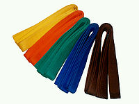 Coloured martial arts belts