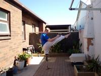 High front kick, real leg